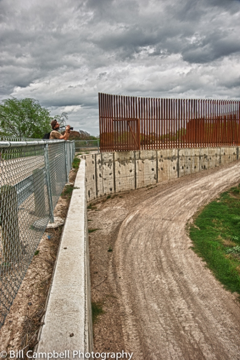 Jerry Monkman shoots into Mexico along Border Wall